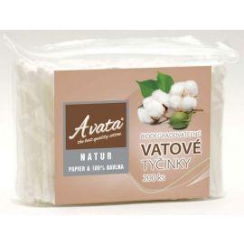 A vata Natur Vatové tyčinky Papier&100% Bavlna v sáčku 200ks