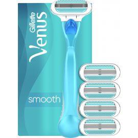 Gillette Venus Smooth holiaci strojček +4ks náhradná hlavice box