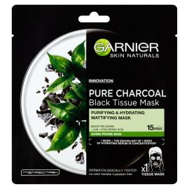 Garnier Pure Charcoal Očisťujúca hydratačná maska pre zmatnenie pleti 28 g