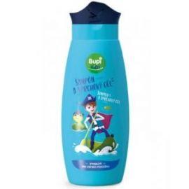 Bupi KIDS 2v1 šampón a sprchový gél modrý pre malých hrdinov 250ml