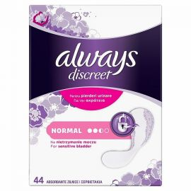 Always Intim Inkontinenčné discreet Normal 44ks hygienické vložky