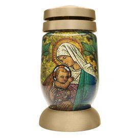 Bolsius Mozaika Maria sklo náhrobný kahanec 23cm 120g 36456