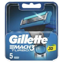 Gillette Mach3 Turbo 3D náhradné hlavice 5ks
