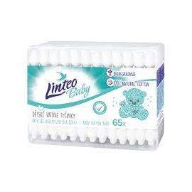 Linteo Baby 100% Natural Cotton papierové vatové tyčinky 65ks box