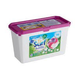 Surf 3in1 White & Color Mountain Fresh&Jasmine kapsule na pranie 15 prani