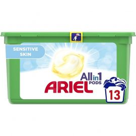 Ariel All in1 Pods 13 praní Sensitive Skin kapsule na pranie