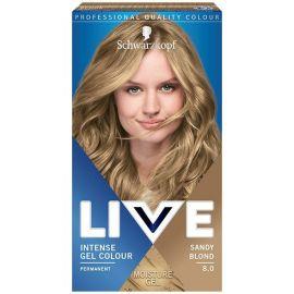 Schwarzkopf Live Intense Colour Gel 8.0 Pravý Blond gelová farba na vlasy