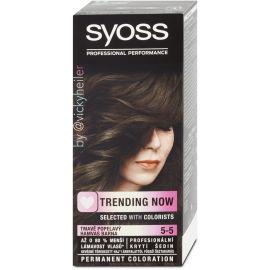 Syoss Color 5-5 Tmavá Popolavá farba na vlasy