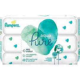 Pampers vlhčené obrúsky 3x48ks Aqua Pure