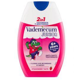 Vademecum Junior Jahoda 2v1 zubná pasta 75ml