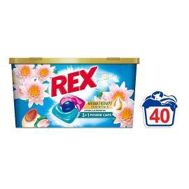 Rex 3+1 Power Caps Aromatherapy Lotus & Almond Oil kapsule na pranie 40 praní