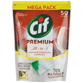 Cif Premium All in 1 Lemon tablety do umývačky riadu 50ks