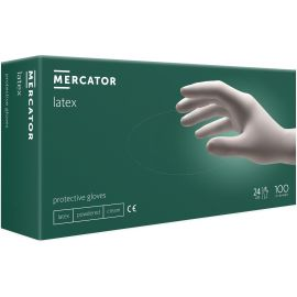 Rukavice hygienické 100ks Latex XL Mercator pudrované biele