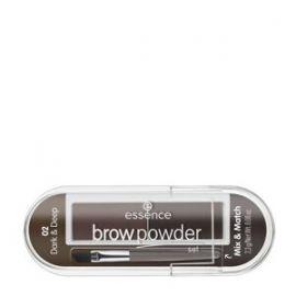 Essence Brow Powder Set na úpravu obočia 02 Dark & Deep 2,3g