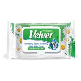Velvet vlhčený toaletný papier 42ks Camomile