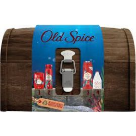 Old Spice Deep Sea Darčeková truhlica Deo, Stick, Sprchový gél, Voda po holení