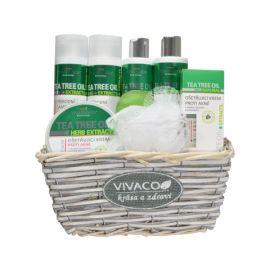 Vivaco Tea Tree Oil darčekový prúteny kôš