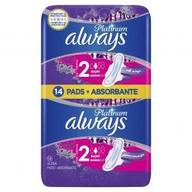 Always DUO Ultra Platinum Super hygienické vložky 14ks