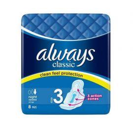 Always Classic Night 8ks hygienické vložky