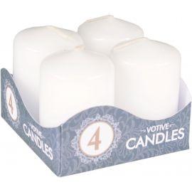 Sviečka Adventná 4ks Biela