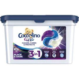 Coccolino Care 3v1 18 praní Black&Dark kapsule na pranie