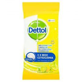 Dettol antibakteriálne utierky Citrón & Limetka 32ks