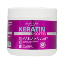 VivaPharm Keratín & Kofein oplachová maska na vlasy pre ženy 600ml