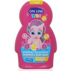 On Line Kids 2in1 sprchovací gél a šampón 250ml Lemonade
