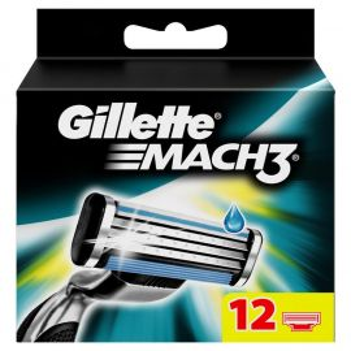 Gillette Mach3 náhradné hlavice 12ks