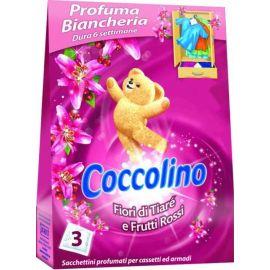 Coccolino Fiori Tiaré & Frutti Rossi Voňavé vankúšiky do šatníka 3ks