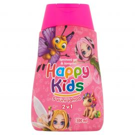 Happy Kids sprchový gél 2v1 ružový 300ml