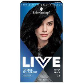 Schwarzkopf Live Intense Colour Gel 1.0 Havrania Čierna gelová farba na vlasy