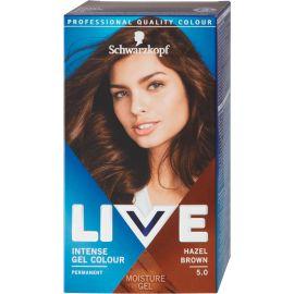 Schwarzkopf Live Intense Colour Gel 5.0 Pravá Hnedá gelová farba na vlasy