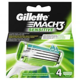 Gillette Mach3 Sensitiv náhradné hlavice 4ks