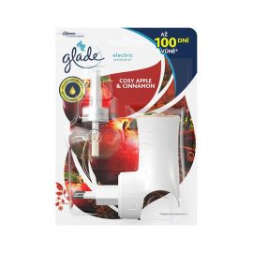 Glade Cosy Apple & Cinnamon elektrický osviežovač strojček 20ml