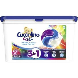 Coccolino Care 3v1 40 praní Color kapsule na pranie