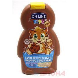 On Line Kids 2in1 šampón a sprchovací gél 250ml Chocolate Cookie
