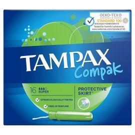 Tampax Compak Protective Skirt Tampóny s aplikátorom 16 ks Super
